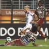 O Santos, de Lucas Lima, teve atuação fraca no Pacaembu. Foto: Ivan Storti/Santos FC