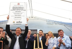 Governo de SP inaugura revitalização de acesso a Ribeirão Pires e inicia recuperação da SP-031