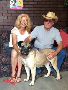 Rose and Quinton Troglin adopted Angel from A Time 4 Paws in May. (Photo by Karen McMeekin / Used by permission)