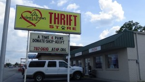 A Time 4 Paws runs a thrift store at 1201 West Ave., in Crossville, Tenn., to help support the organization's programs. (Photo by Diahan Krahulek)