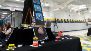 Elementary visual arts students displayed their paintings, sculptures, pottery and casts in the LBC Middle School on June 28-29. (Photo by D. Krahulek)