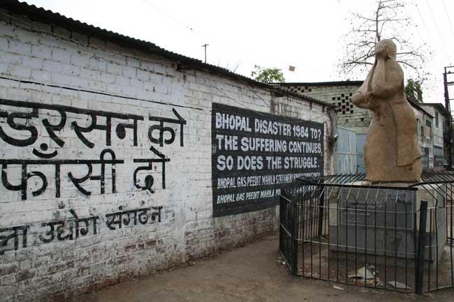 Monumento a las víctimas de Bhopal