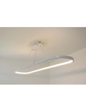 Lampadario a sospensione dal design moderno, ideale per illuminare ambienti come camera da letto o un. Vera Sg Lampadario Moderno Led Ovale Bianco Diamantlux