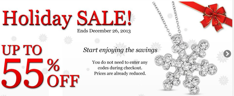 Diamond Jewelry Holiday Sale