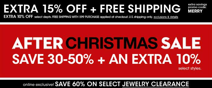 Macy's After-Christmas Diamond Jewelry Sale