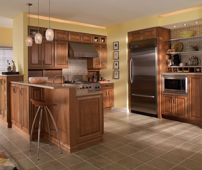 Maple Cabinets in Medium Finish - Diamond Cabinetry on Maple Cabinets  id=56958