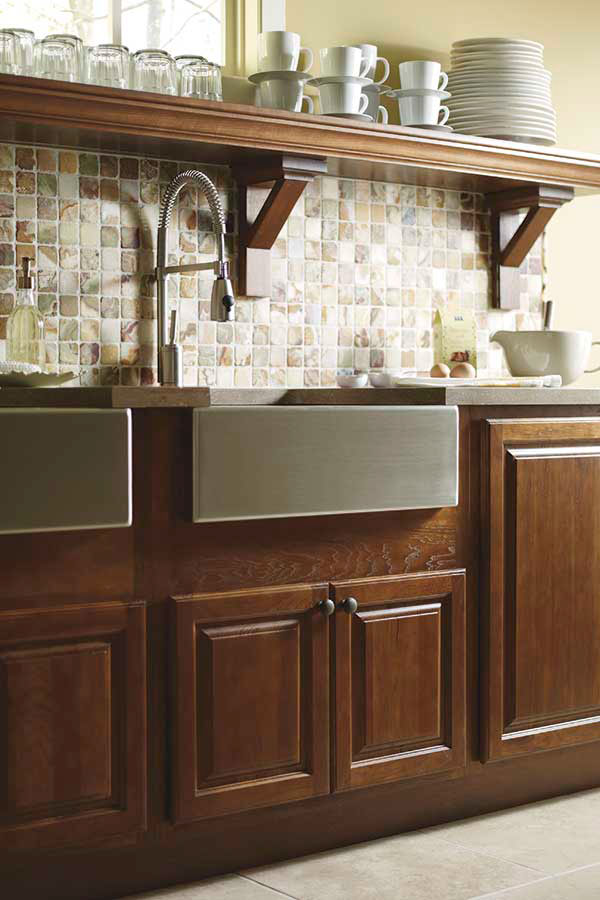 Country Sink Base Cabinet - Diamond Cabinetry on Rustic:fkvt0Ptafus= Farmhouse Kitchen  id=43570