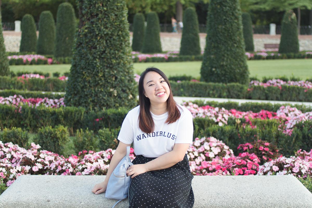 EL Retiro Park garden portrait