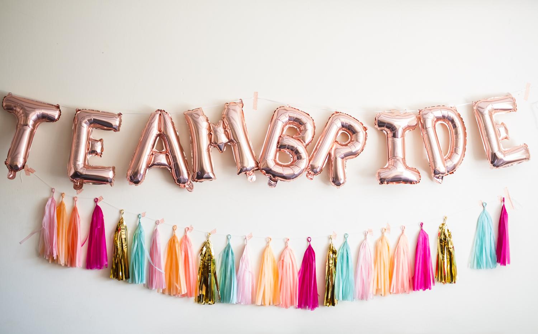 Team bride banner