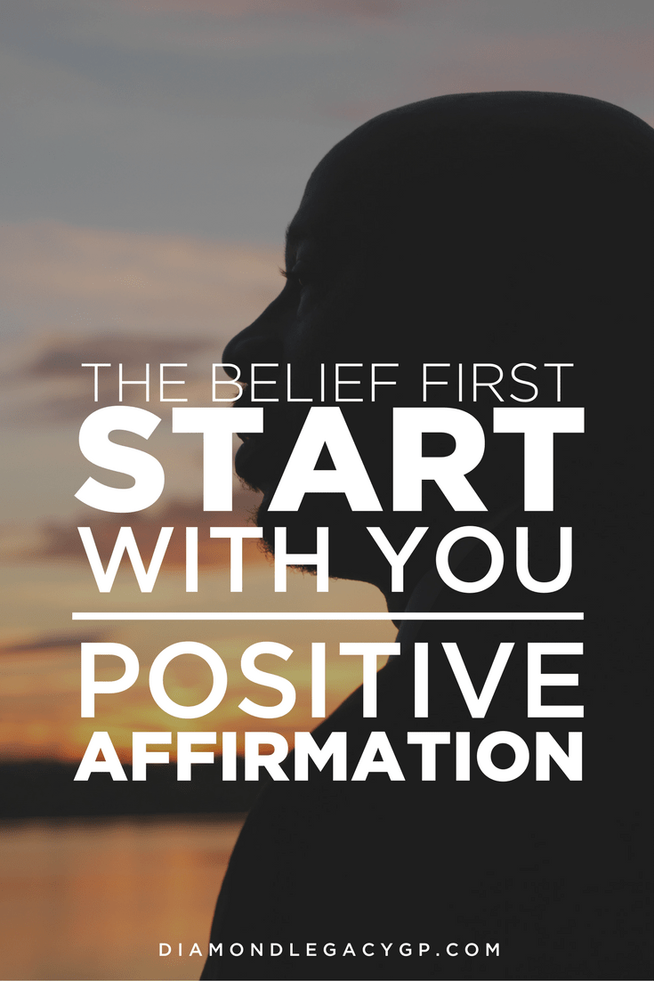 The Belief First Start With You Positive Affirmation Cover
