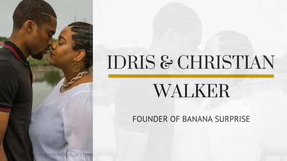 Idris and Christin Walker showing their love for each other