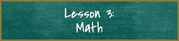 Lesson 3: Math | Diamond Pet Foods