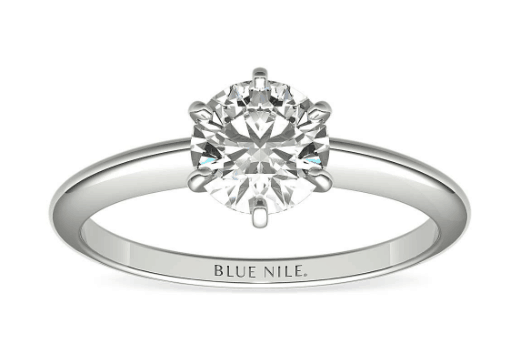 Classic Six-Prong Solitaire from Blue Nile