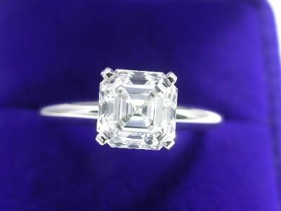 Royal Asscher Cut Diamond Ring 154 Carat E VS1 In