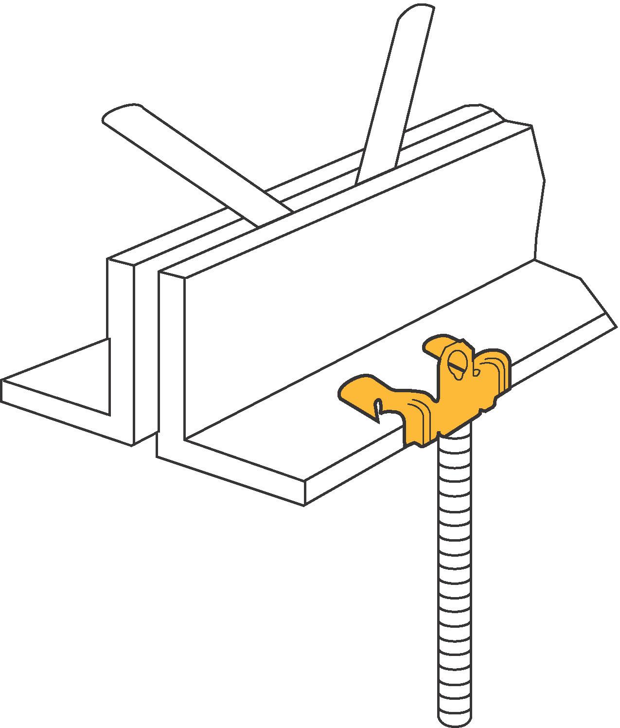 Diamond Tool Caddy M58 Hammer On Flange Clip