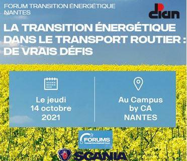 14/10/2021 – FORUM DE LA TRANSITION ENERGETIQUE DANS LE TRANSPORT ROUTIER
