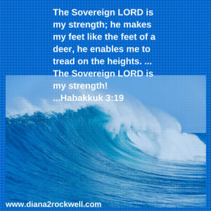 The Sovereign LORD is my strength; he