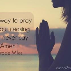 Love expressed in prayer