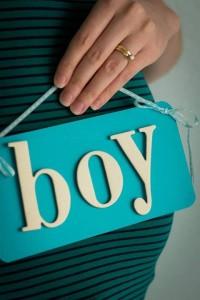 Boy blending baby