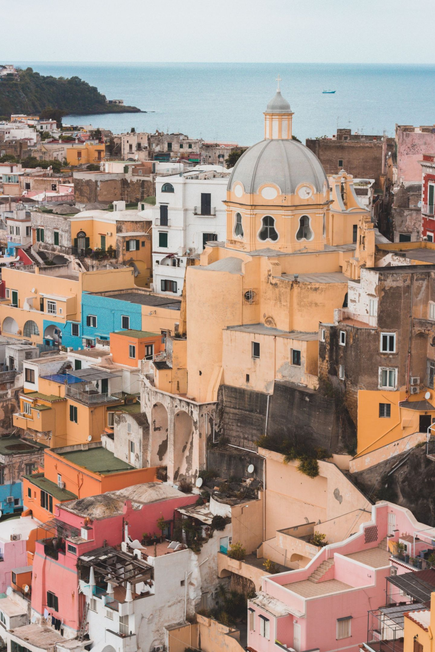 Beautiful buildings in Procida