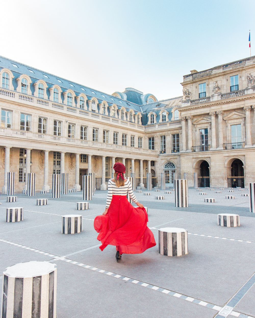 Red outfit Paris