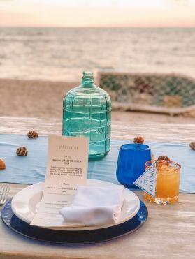 Pacifico Beach Club table setting