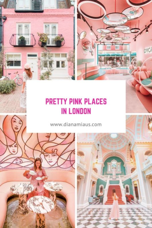 Pretty Pink Places in London