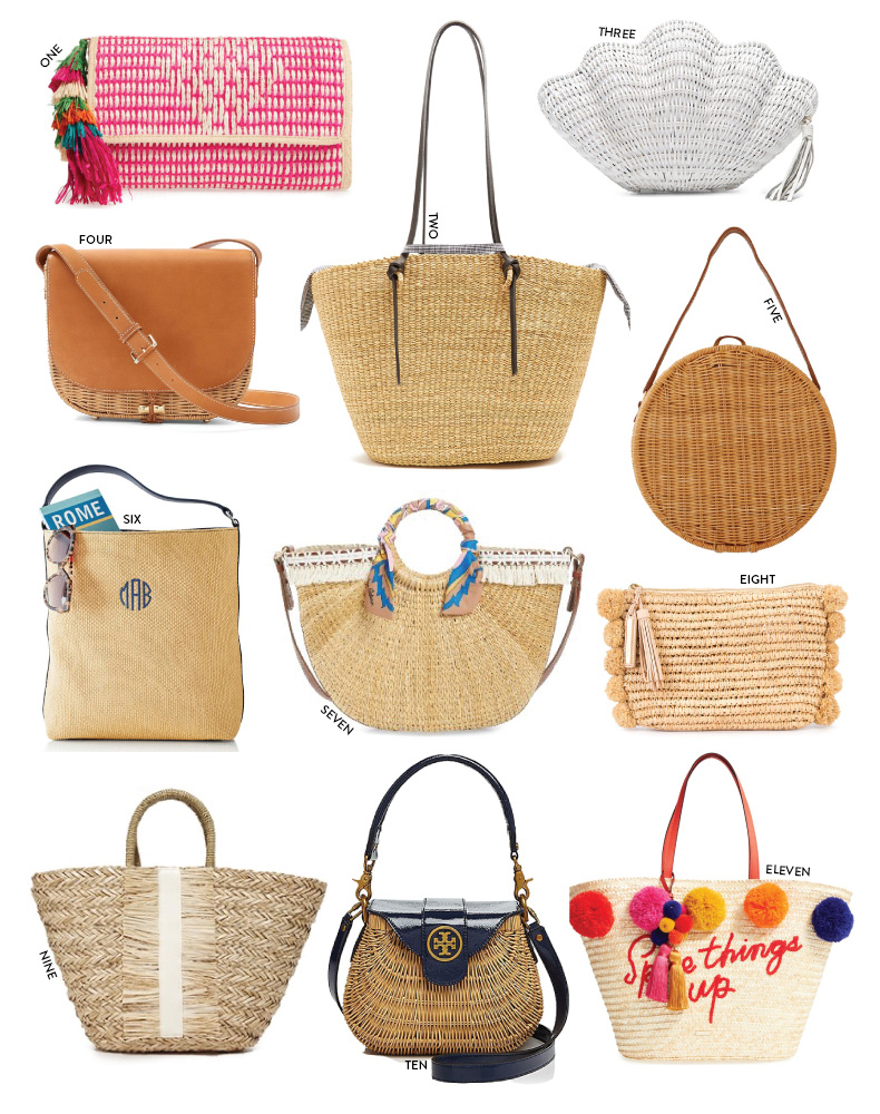 Wicker, Bamboo and Straw Bags for Spring and Summer // Pearl Girl