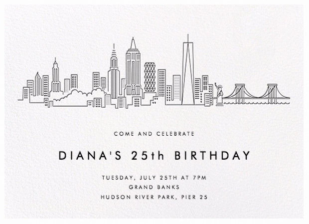 my 25th birthday invitations with paperless post paperless post