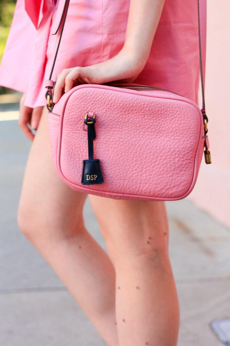 J.Crew Pink Bow Shorts, J.Crew Signet Bag in Charleston // Pearl Girl