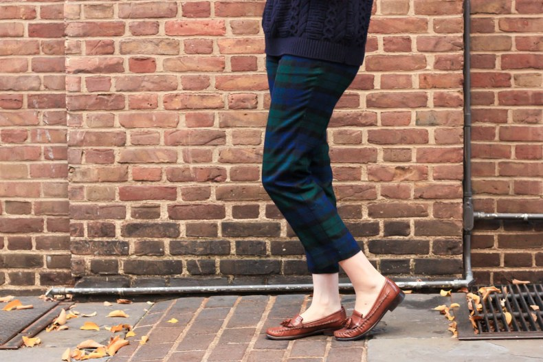 How to Wear J.Crew Plaid Pants, Plaid Style Ideas on Pearl Girl fashion blog