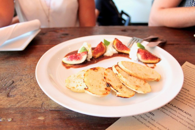 Figs and burrata at Taste