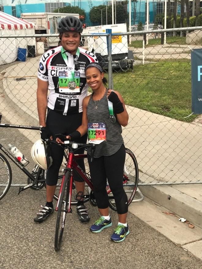 At the Long Beach Marathon following the Bike Tour