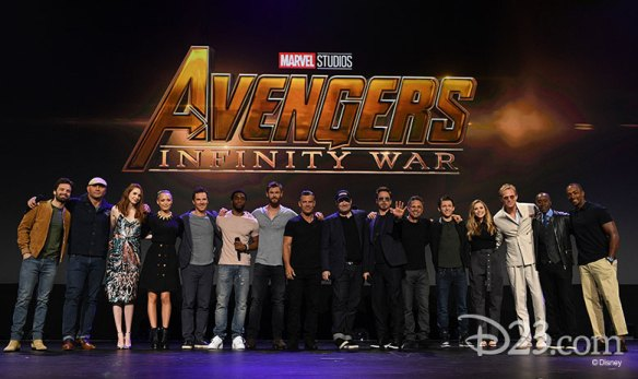 The cast from Avengers Infinity War