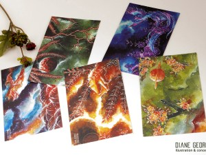 Space Hanafuda postcard assortment
