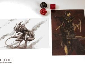 warhammer postcard