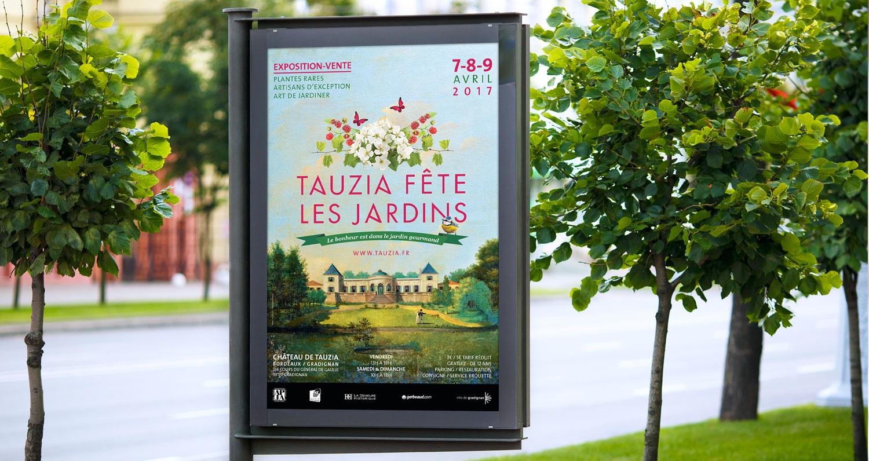 affiche pour Tauzia fête les jardins