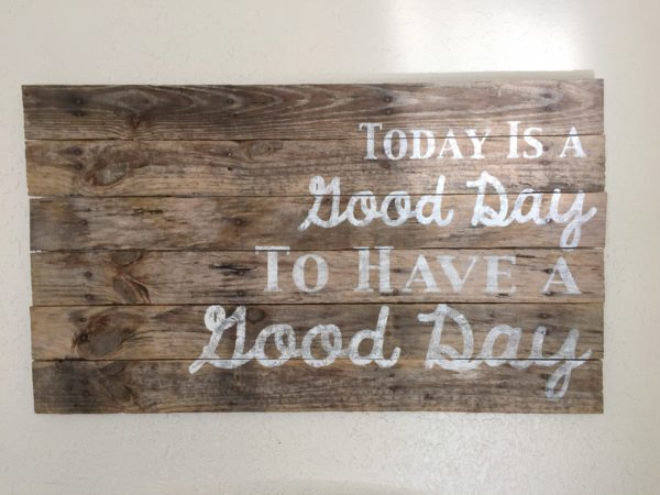 silhouette cameo pallet sign