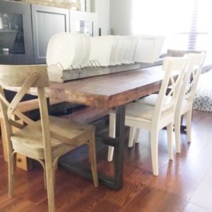 DIY Pottery Barn Inspired Farmhouse Table