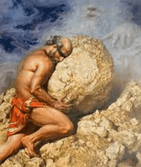 Sisyphus pushing the bolder up the mountain – exercise your kindness muscle