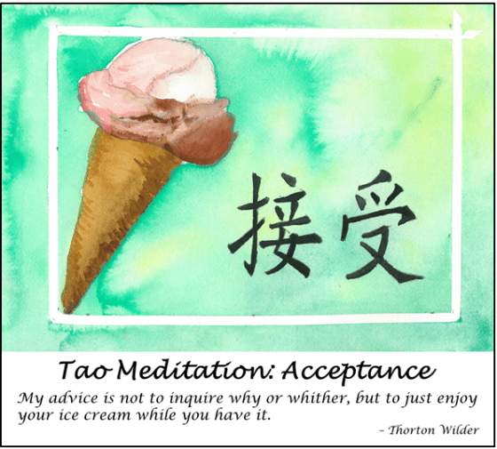 Tao Meditation: Acceptance Art and Inspiration