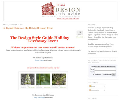 Design Style Guide Giveaway #5