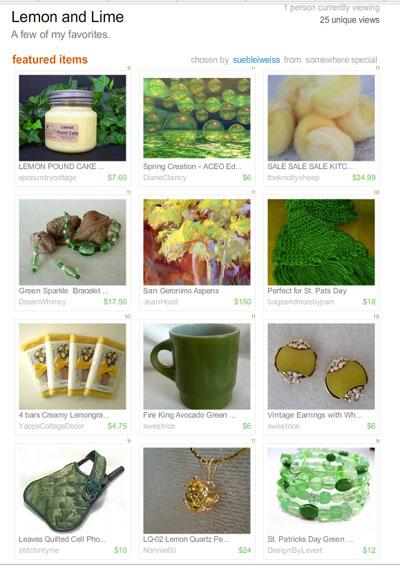 Lemon and Lime Treasury