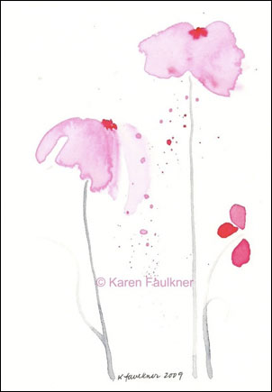 Pink Showers, © Karen Faulkner Art