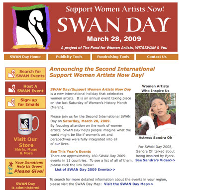 SWAN Day (Support Women Artists Now)