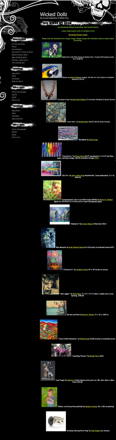 Our Favourite Paintings, July WWAO Exhibit