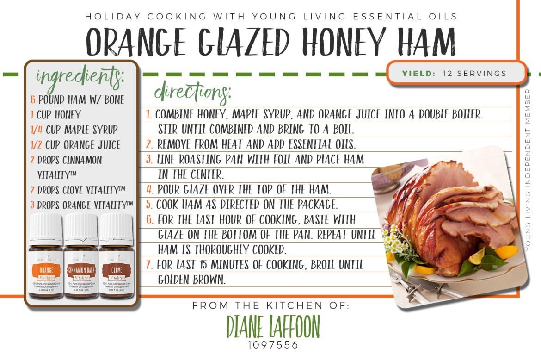 orange honey glazed ham