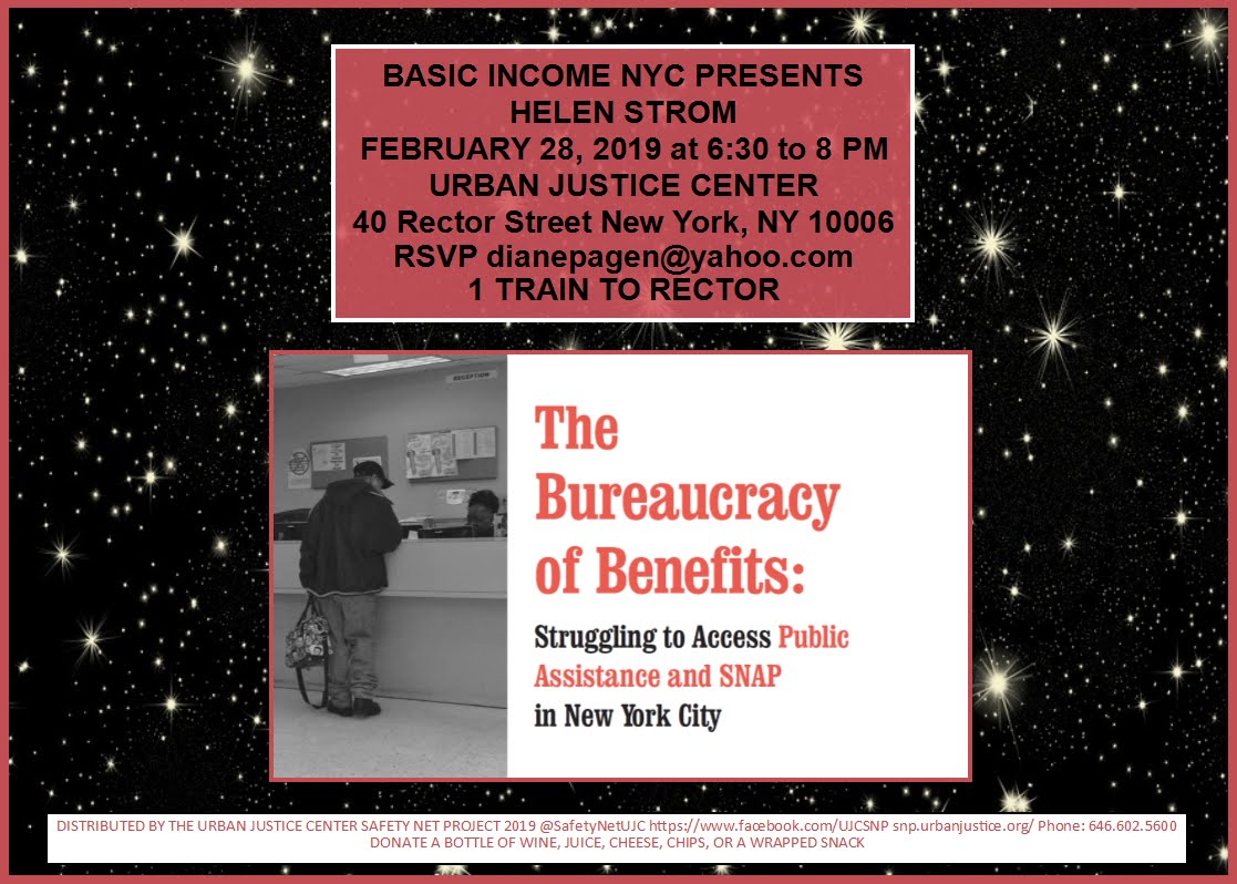 Basic Income NYC events - Diane Pagen