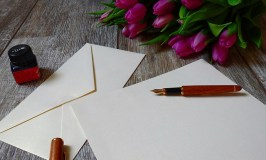Image of stationery and fountain pen to be used in writing a (love) or respect letter to make your marriage stronger.