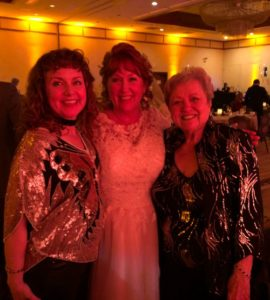 Love, Look at the 2 of us: image of bride with her mother and cousin